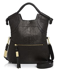 Foley Corinna And Essential City Python Embossed Tote Black Gold