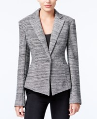Rachel Roy Pleated One Button Blazer Only At Macy's Black Combo