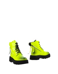 Bruno Bordese Ankle Boots Acid Green
