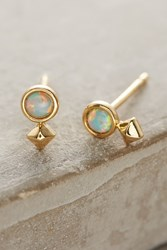 Anthropologie Opalescent Posts Mint