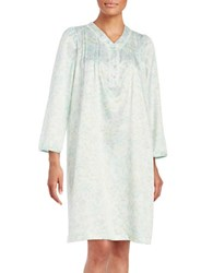 Miss Elaine Floral Nightgown Mint
