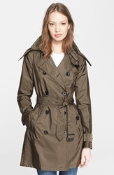Burberry 'Balmoral' Packable Trench Military Olive