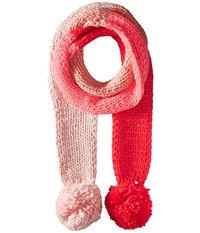 Kate Spade Chunky Knit Color Block Skinny Muffler Persimmon Grove Scarves Red