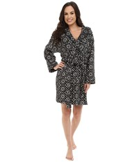 Vera Bradley Hooded Fleece Robe Concerto Women's Robe Black