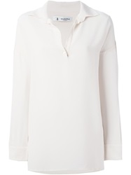 Barena Classic Collar Blouse Nude And Neutrals
