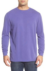 Men's Bugatchi Long Sleeve Crewneck Sweatshirt Grape