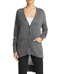 Dkny High Low Cardigan Charcoal Heather