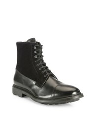 To Boot Neils Calfskin Leather Boots Cognac Black