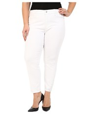 Nydj Plus Size Plus Size Amira Fitted Ankle In Optic White Optic White Women's Jeans