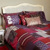 Clarissa Hulse Patchwork Plum Duvet Cover Single
