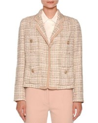 Agnona Tweed Four Pocket Jacket Taupe
