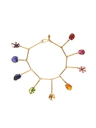 Pippa Small Multi Stone And Yellow Gold Bracelet