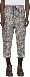 Pigalle Brown And White Mohair Boucla Trousers