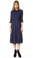 Shoshanna Camile Dress Navy