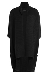Zadig And Voltaire Oversize Cardigan With Alpaca And Wool Black