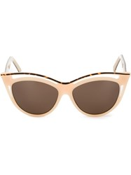 Andy Wolf Eyewear Cat Eye Sunglasses Nude And Neutrals