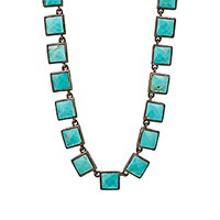 Nak Armstrong Women's Turquoise Mosaic Long Necklace No Color