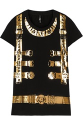Versus Metallic Printed Stretch Cotton T Shirt