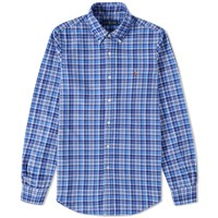 Polo Ralph Lauren Button Down Check Oxford Shirt Blue