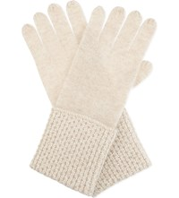 William Sharp Swarovski Cuff Cashmere Gloves Biscuit