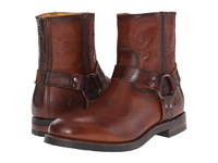 Frye Clinton Harness Back Zip Cognac Oiled Vintage Men's Zip Boots Brown