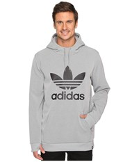 Adidas Team Tech Hoodie Core Heather Men's Sweatshirt Gray