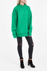 Marques Almeida Oversized Jumper Green