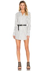 Frankie Button Up Dress White