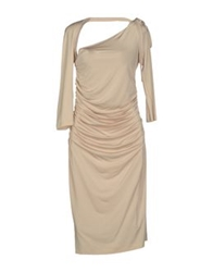 Gio' Guerreri Knee Length Dresses Beige