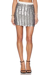 Mlv June Sequin Skirt Metallic Silver