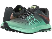Nike Air Zoom Winflo 3 Shield Green Glow Metallic Red Bronze Seaweed Hasta Women's Shoes