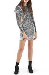 Topshop Women's Cutout Crushed Velvet Dress