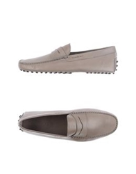 Tod's Moccasins Light Grey