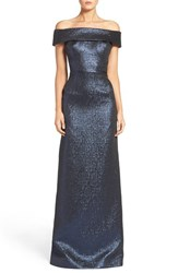 Rickie Freeman For Teri Jon Women's Metallic Column Gown
