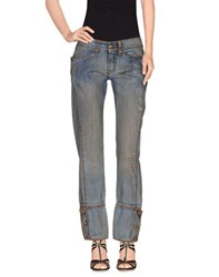 Ermanno Scervino Denim Denim Trousers Women Blue