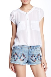 Fate Short Sleeve Blouse White