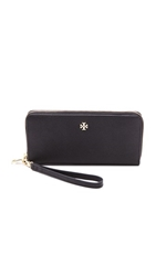 Tory Burch York Zip Continental Wallet Black