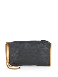 Lanvin Quilted Leather Clutch