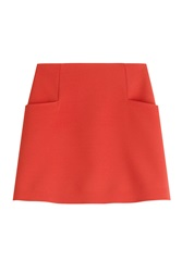 Courreges Crepe Mini Skirt Red