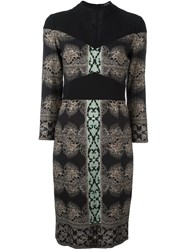 Etro Mixed Print Tube Dress Black