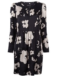 Twin Set Floral Print Dress Black