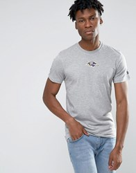 New Era Ravens T Shirt With Back Print Grey