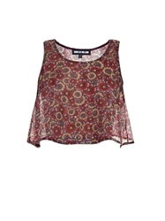 House Of Holland Sequin Floral Trapeze Crop Top