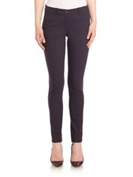 Michael Kors Samantha Skinny Stretch Wool Pants Navy