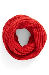 Women's Bp. Cable Knit Infinity Scarf Red