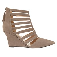 Mint Velvet Orla Suede Court Shoes Taupe