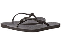 Havaianas Slim Pin Tribal Sandal Black Women's Sandals