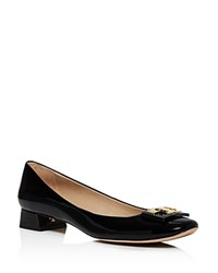 Tory Burch Gigi Block Heel Pumps Black Gold