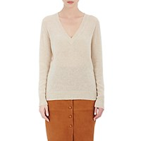 Barneys New York Women's V Neck Sweater Cream