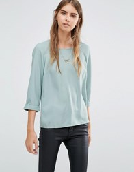 Vero Moda Midi Top Chinoise Green